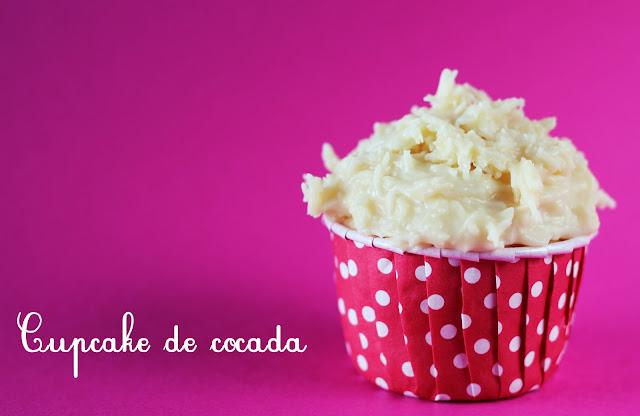 Cupcake de cocada, cupcake para festas juninas