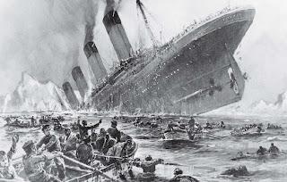 The tragedy of titanic, illustration titanic ship
