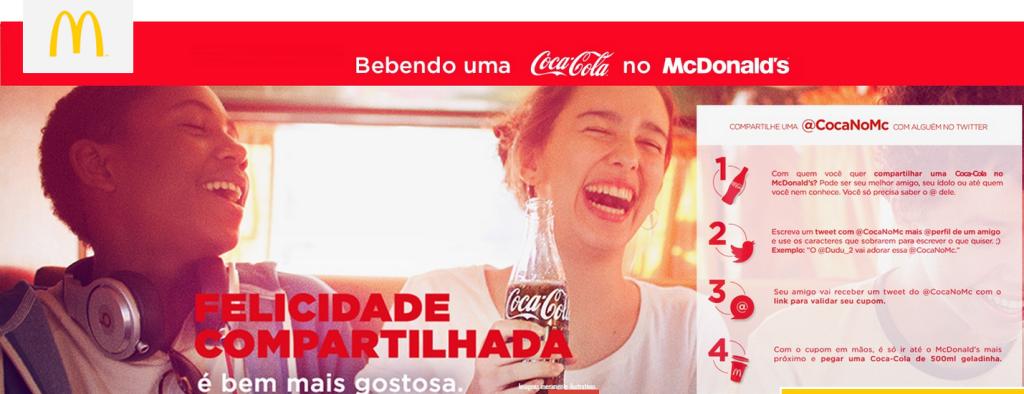 Como participar da promoção Coca-Cola de graça do McDonalds