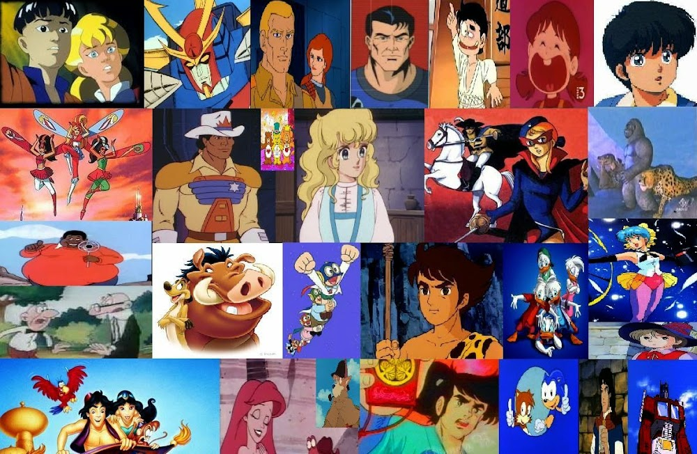 Cartoni animati degli anni trasmessi in italia