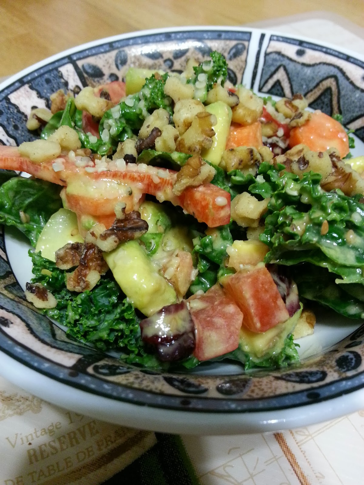 ... Week 4 Whip Up a Packed-With-Vitamins Salad - Weekend Glow Kale Salad