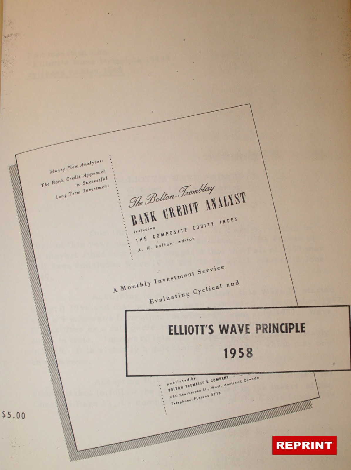 elliott wave principle book pdf