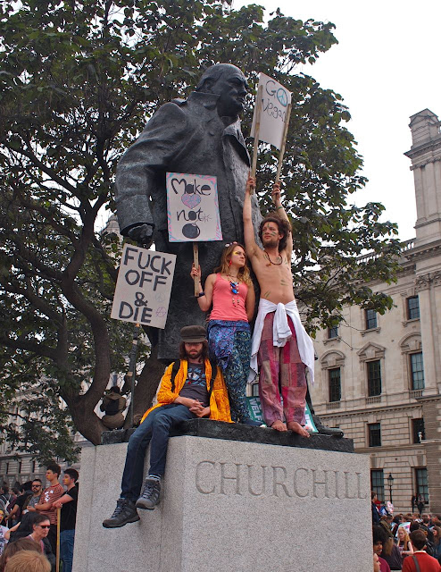 20/06/15 Anti-austerity march , Parliament Square, London . Photo: Bill Hicks