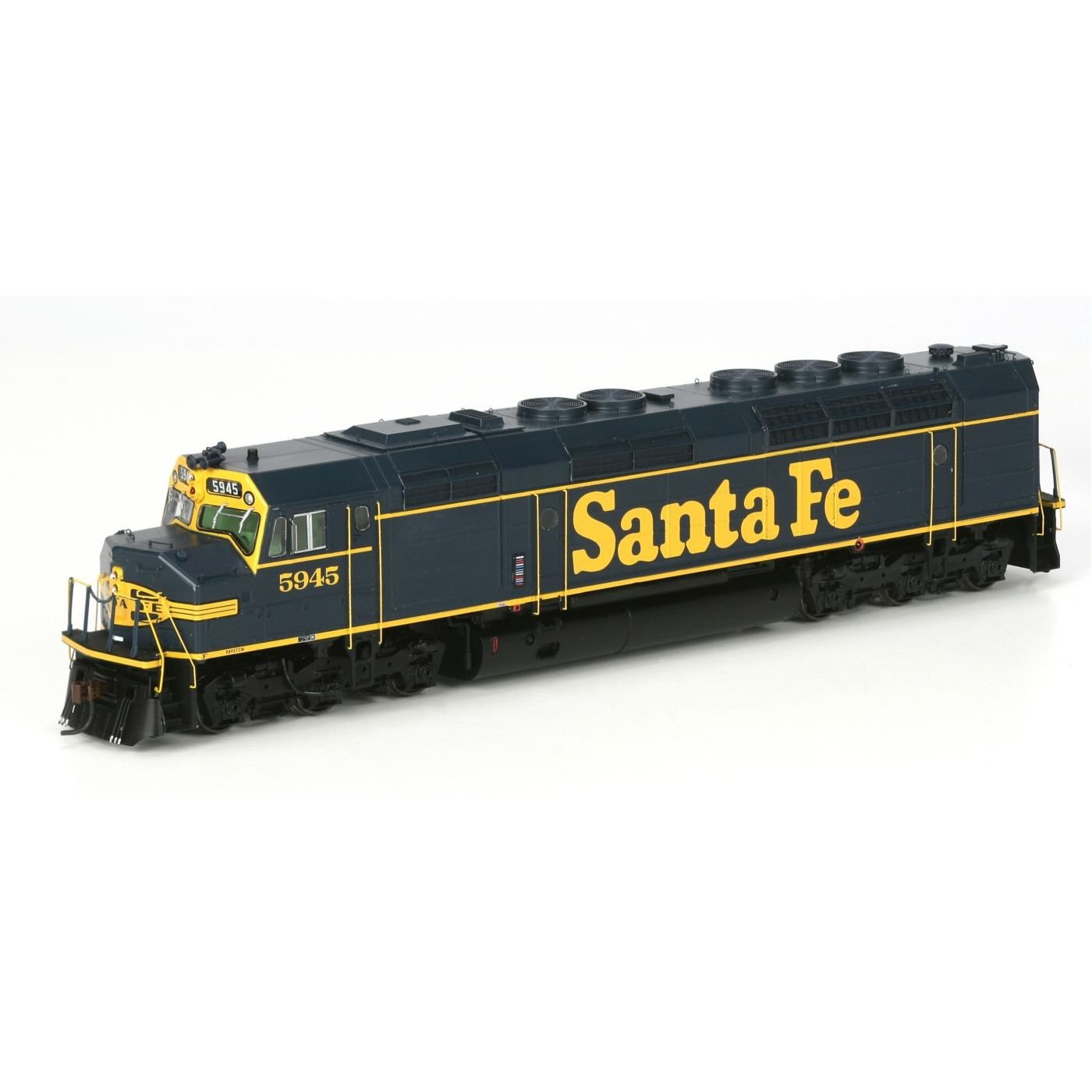 Rails West: Athearn HO Scale Locomotive FP45, Santa Fe / Pinstripe on