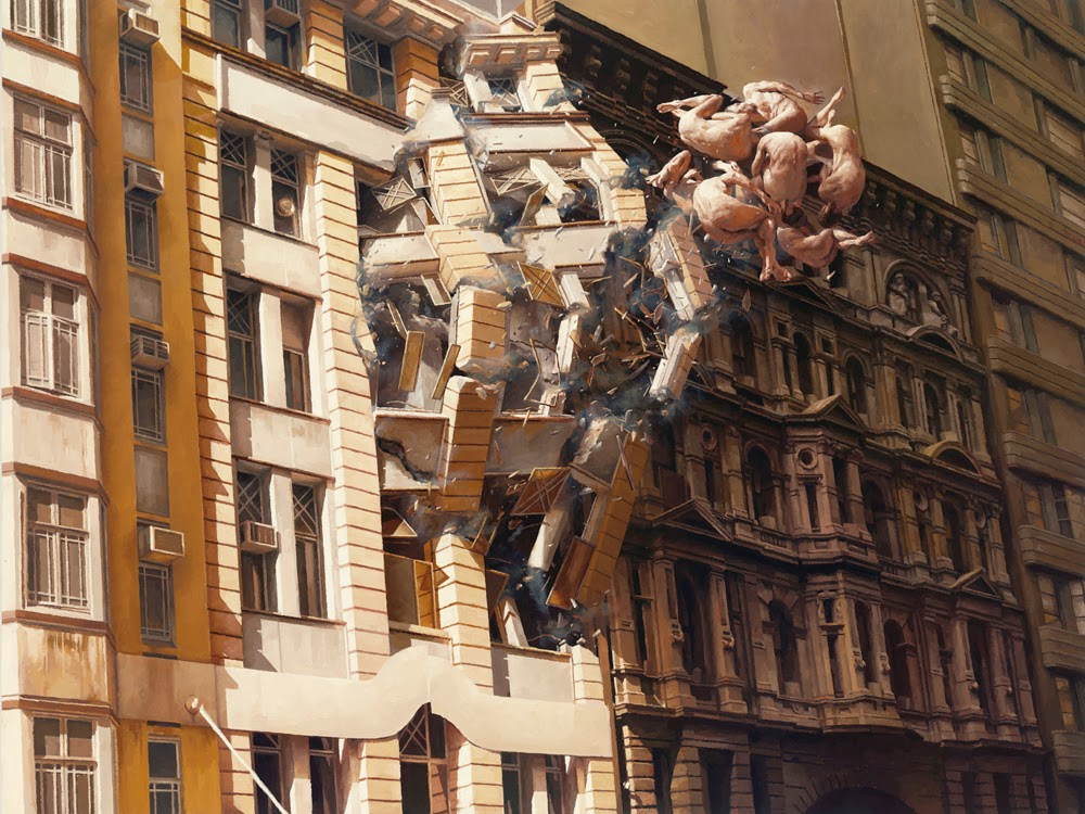 07-Pale-Memory-Jeremy-Geddes-Body-Weightlessness-in-Surreal-Paintings-www-designstack-co