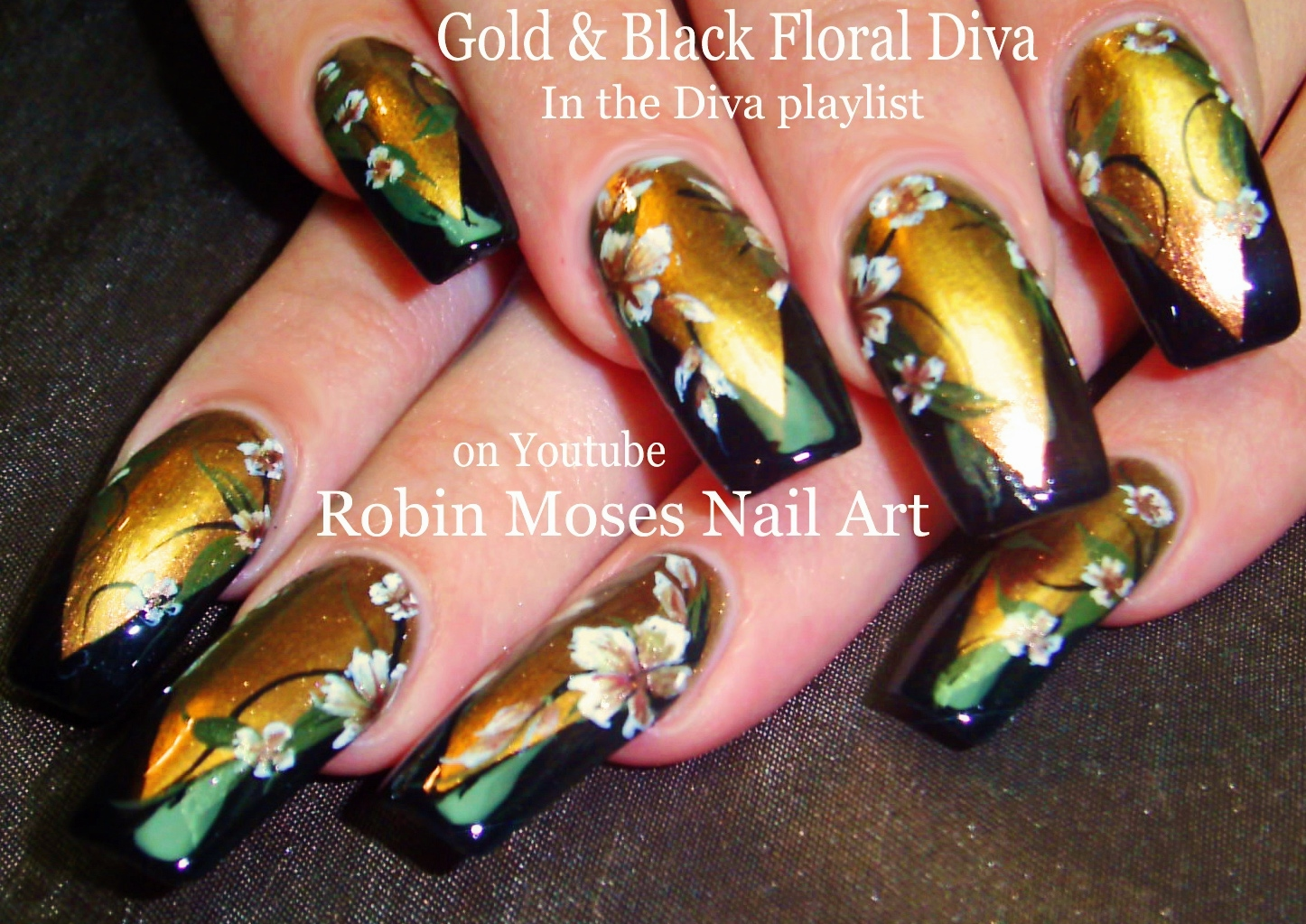 Robin Moses Nail Art Dark Matte Red Nails With Henna And Sponge