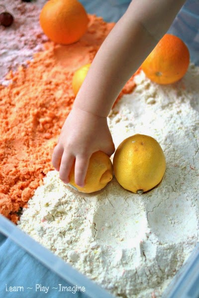 The simplest method for adding color and scent to cloud dough.  We tested several methods and found one magic ingredient that produces vibrant colors and delicious scents!