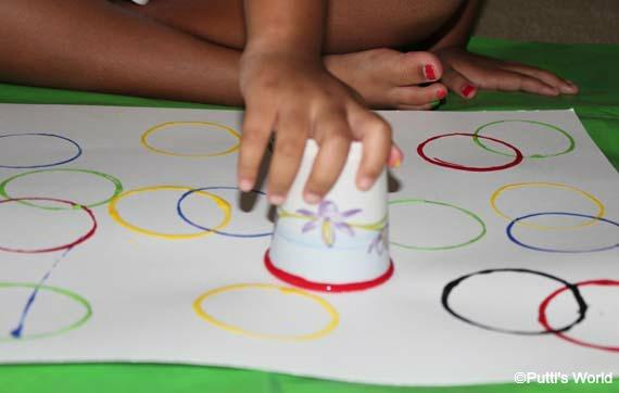 Circle Stamping For Kids