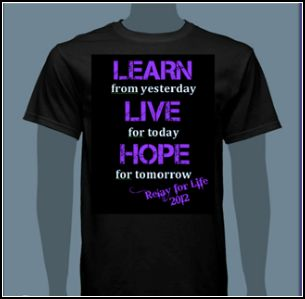 Nonprofit management student association at ucf relay for for Relay for life t shirt designs