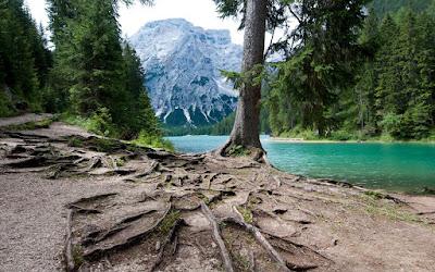 Hermosa fotografía del Lago di Braies en Bolzano, Italia.