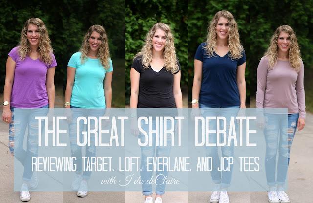 Everlane, JCP, Target Merona, Mossimo, Loft tee shirt review