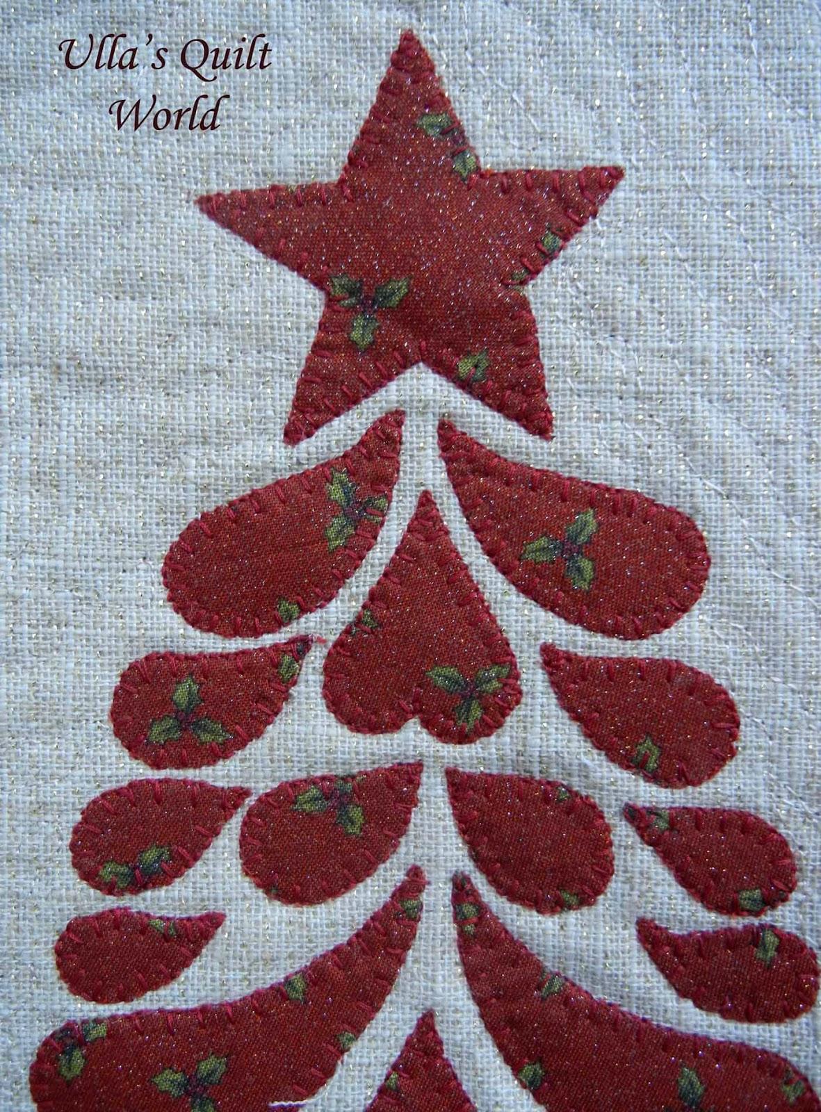 Ulla s Quilt World: Christmas tree Quilt