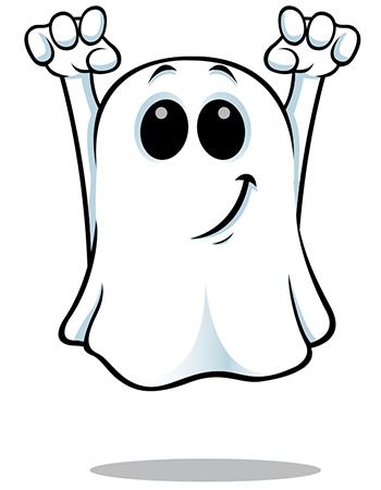 Smirking ghost