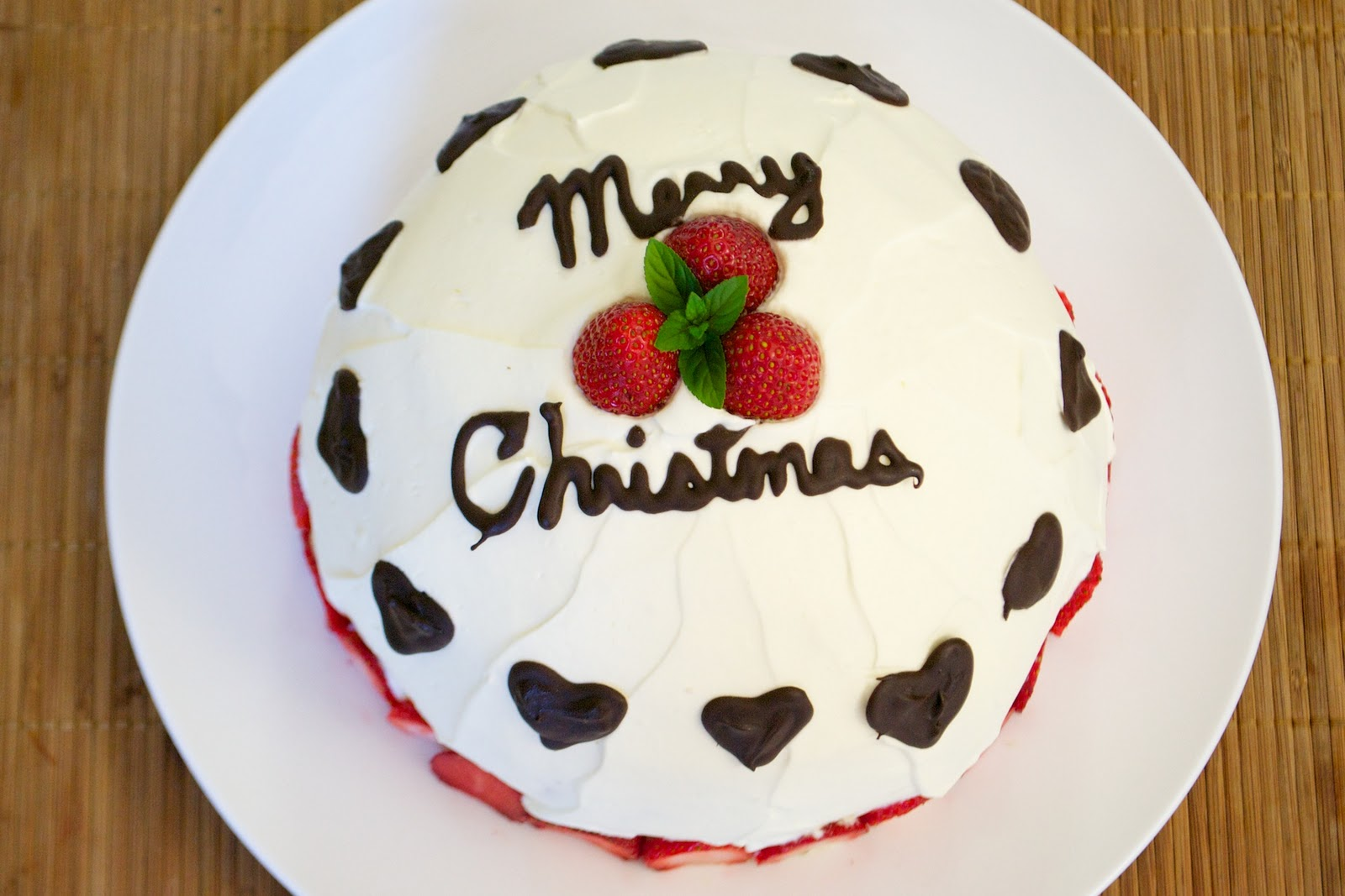 How to make christmas cake - How To Make A Dome Shaped Japanese Christmas Cake