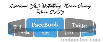 Create Awesome 3D Rotating Menu Using Pure CSS3