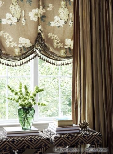 Curtains Ideas chinoiserie curtains : Chinoiserie Chic: Balloon Shades