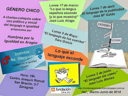 Nuevas charlas de GENERO CHICO PARA la primavera de 2014