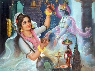 meera ji with shri krishna