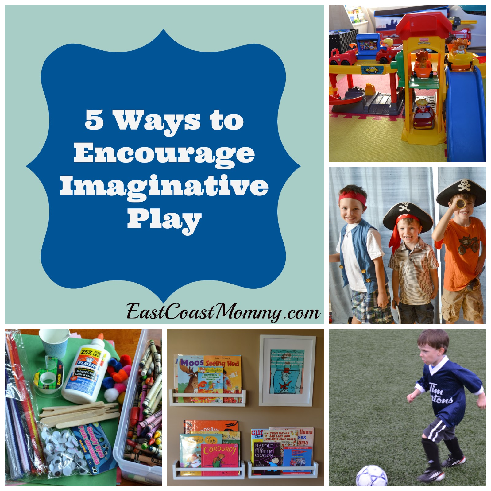 imaginative play Allowing children to use their imagination is helpful and there are many benefits  of pretend play in child development according to susan engel, phd, author of .