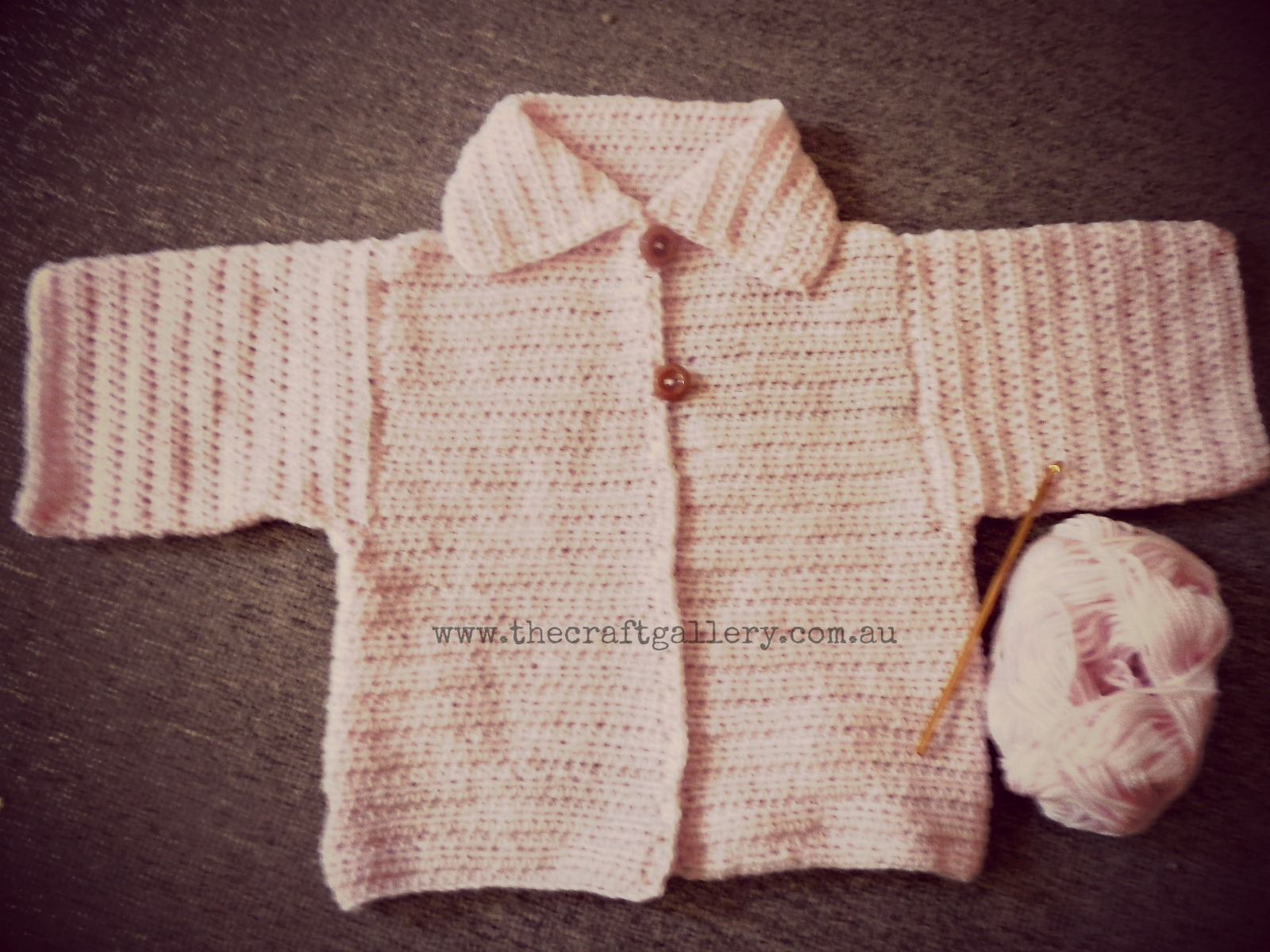 Knitting Pattern Cardigan 4 Year Old : The Craft Gallery : Crochet Cardigan for 3-4 year old