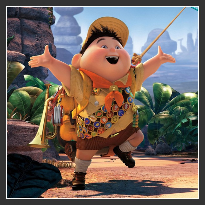 Disney Pixar Up Papercraft  quot  Russell  quot  BoysRussell Up Pixar Wallpaper
