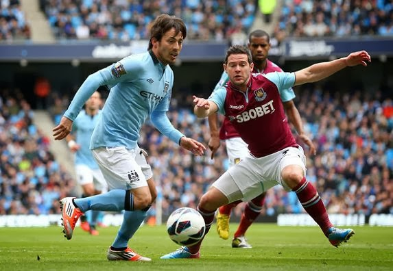 Manchester City vs West Ham United Capital One Cup 2014
