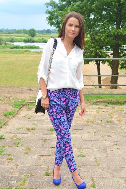 Wzorzyste spodnie :)