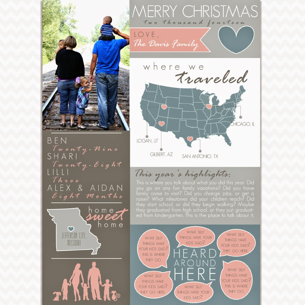 year in review family new year christmas newsletter - Year In Review Christmas Card