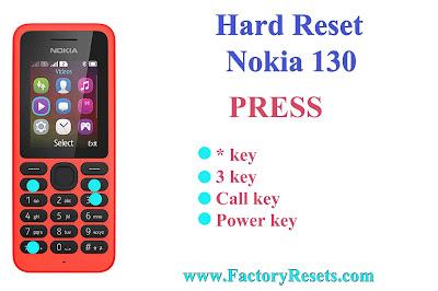 Hard Reset Nokia 130