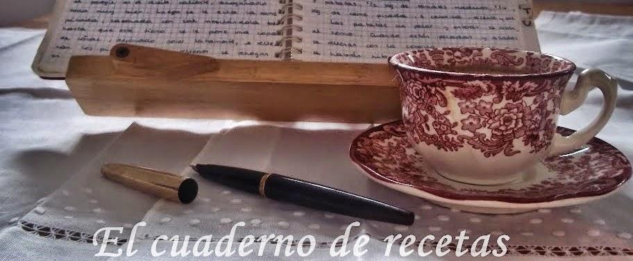 El cuaderno de recetas
