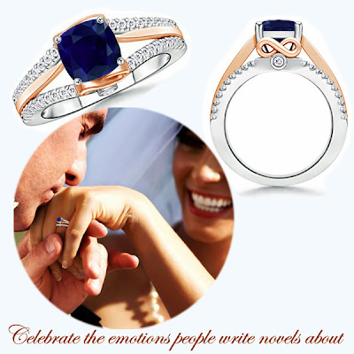 Sapphire Diamond WOW Engagement Ring