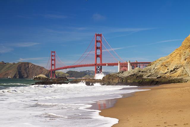 Scenic Baker Beach, San Francisco
