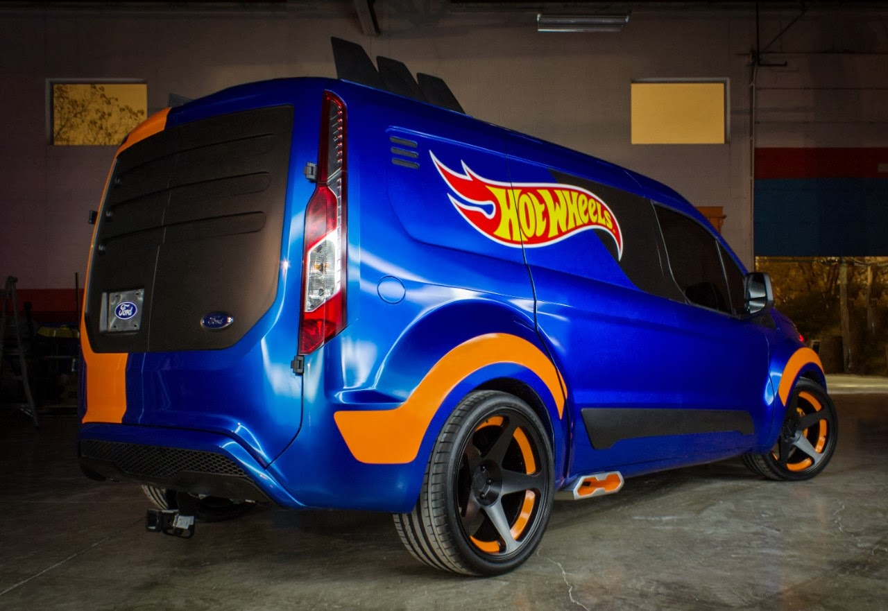 The hot wheels concept of the transit connect cargo van unveiled today at the 2013 specialty equipment market association show in las vegas