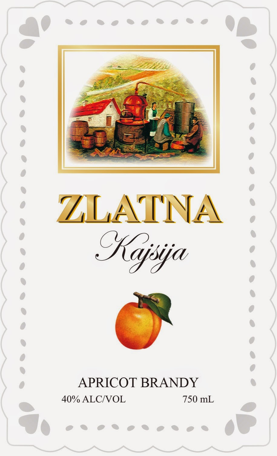 Zlatna Quince Brandy and Apricot Brandy