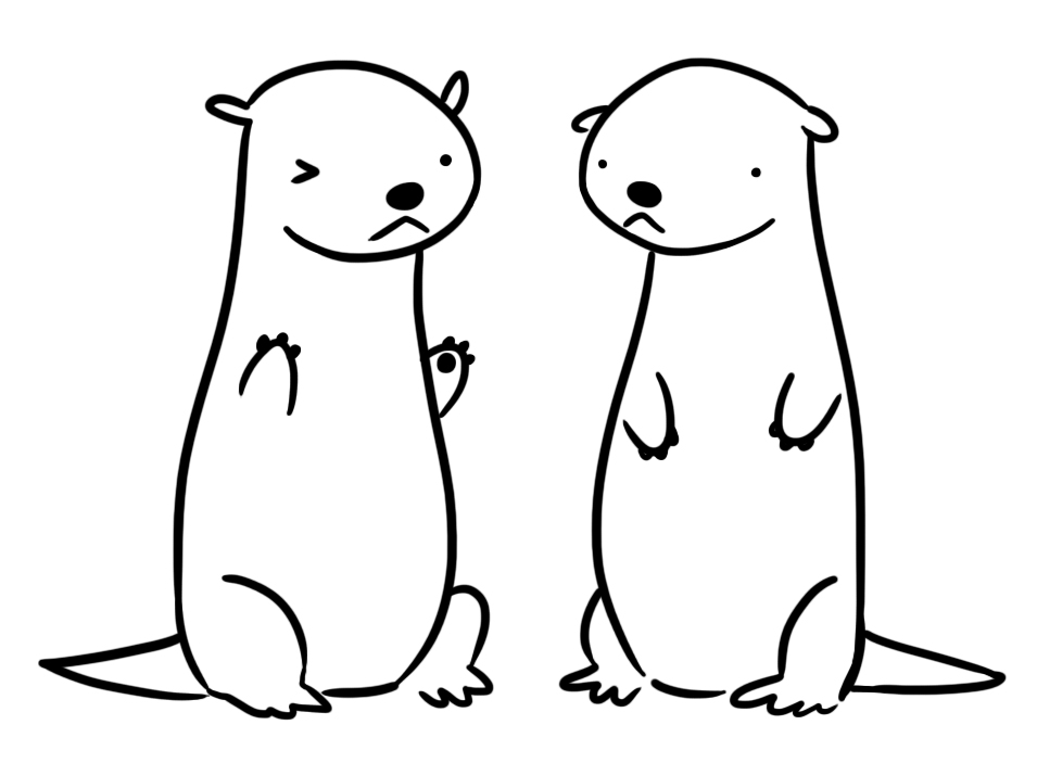 How To Draw Baby Sea Otter
