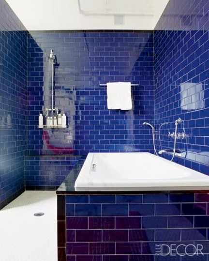 Model Dark Blue Bathroom Deep Dark Blue Bathroom  Interiors By Color