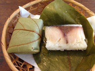 Kakinoha-zushi ; Sushi wrapped with a persimmon leaf, and is one of the local Japanese dishes in Nara