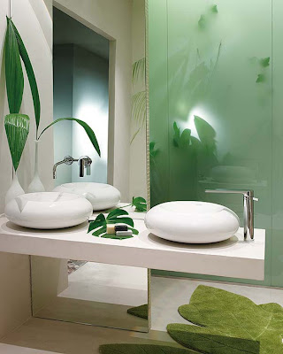 baño inspirado en la naturaleza