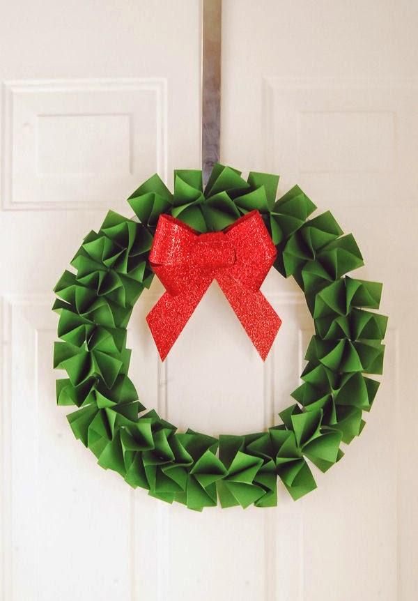 Haz Una Corona De Navidad Con Papel Lodijoella