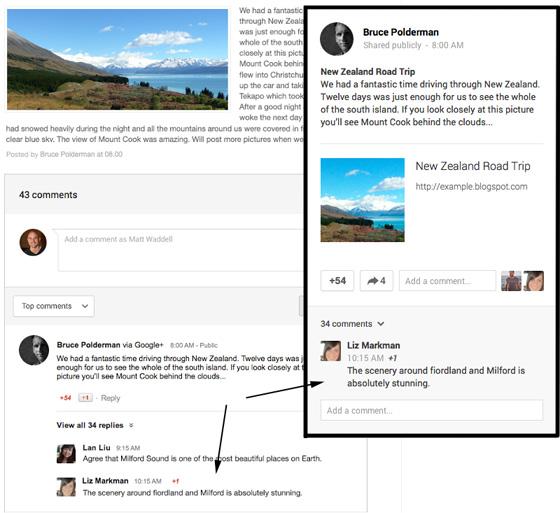 Google+ комментарии