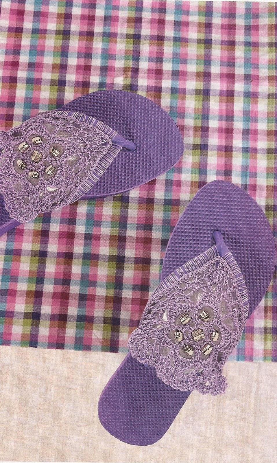 Zapatos a Crochet - Sandalias Tres Puntadas