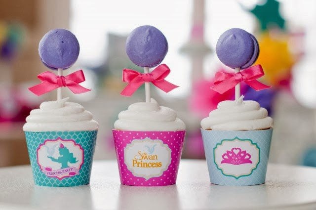 THE SWAN PRINCESS printable cupcake wrapper