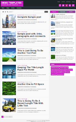 TheTuts Purple Blogger Template