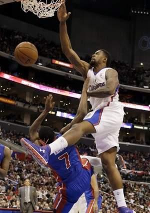 2012 2013 NBA Regular Season DeAndre Jordan Dunks On Brandon Knight