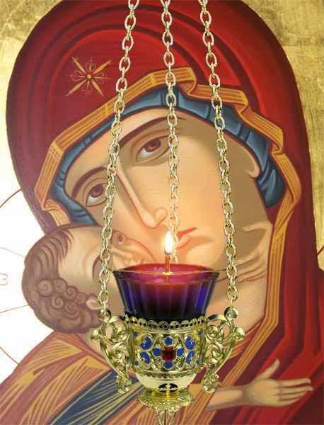 Maica Domnului cu pruncul, Rugaciune la aprinderea candelei