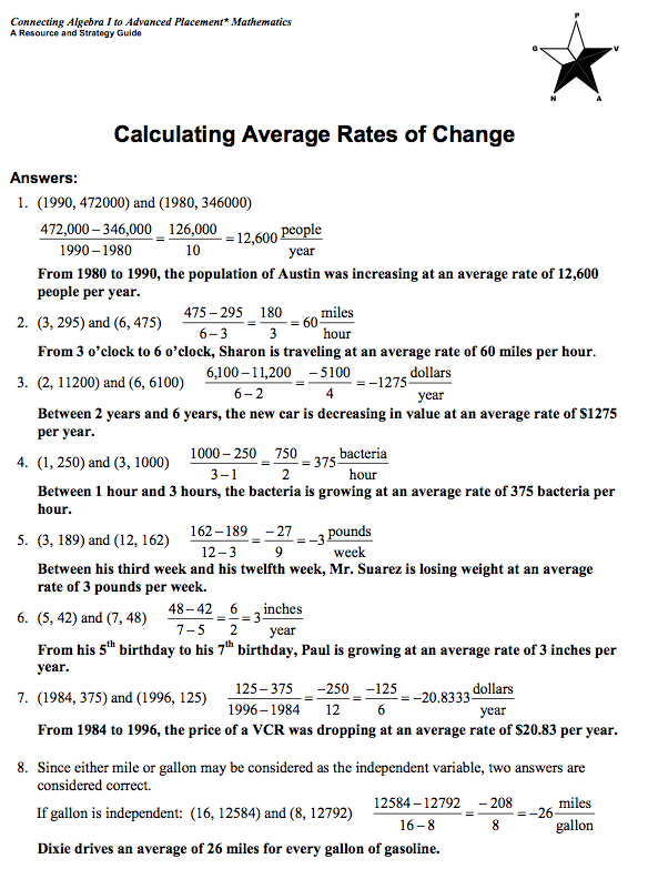 worksheet. Average Rate Of Change Worksheet. Grass Fedjp Worksheet ...