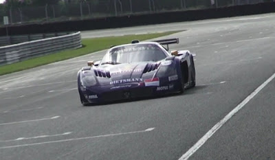 Maserati MC12 GT1 in Action on Track
