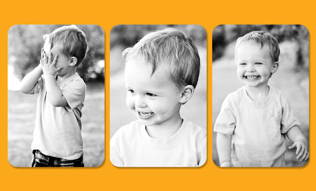Series of photographs of a child in a Tucson Park