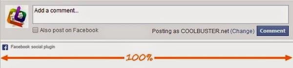 Facebook responsive comments box