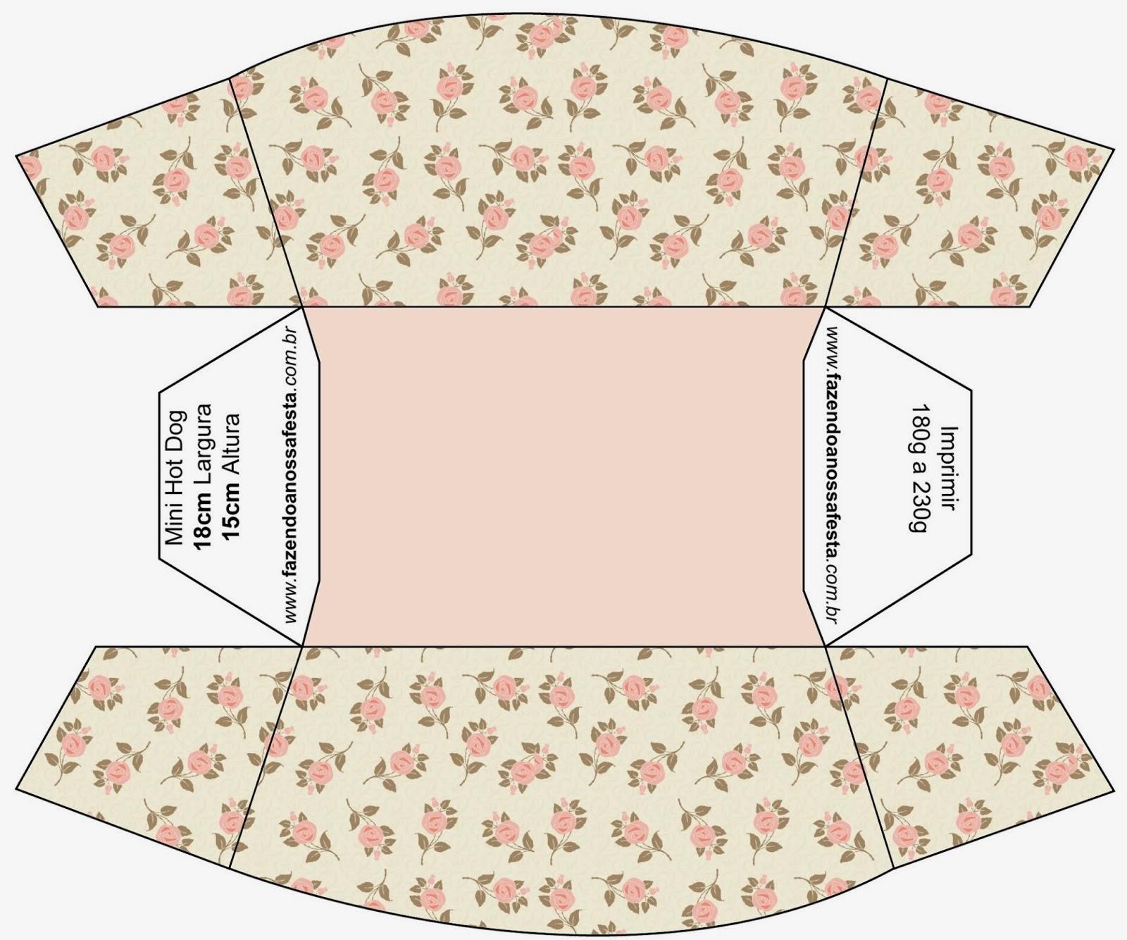 Delicadas rosas cajas para imprimir gratis ideas y for Cajas personalizadas con fotos